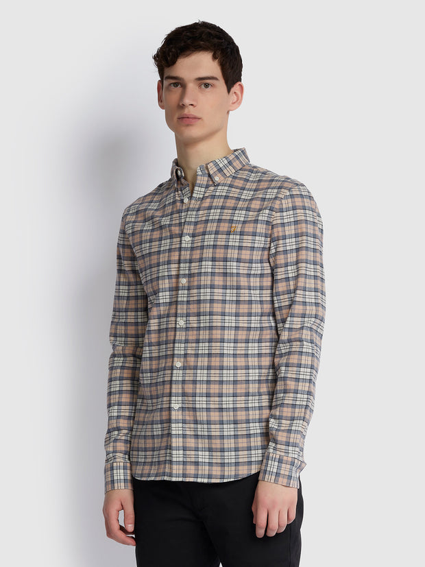 Mccaslin Slim Fit Check Shirt In Blush