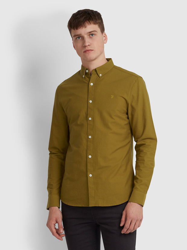 BREWER SLIM FIT OXFORD SHIRT IN SPANISH BROWN