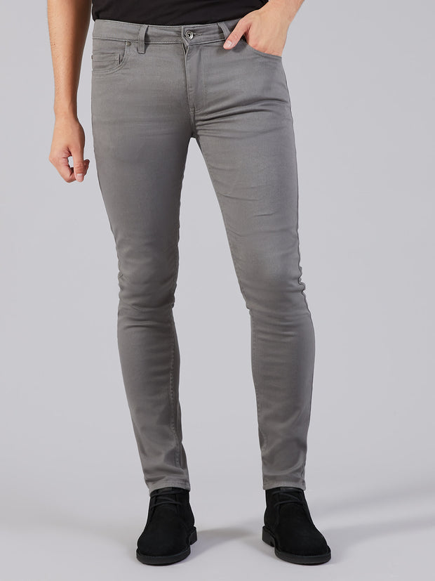 DRAKE SUPER SLIM FIT JEANS IN MID GREY