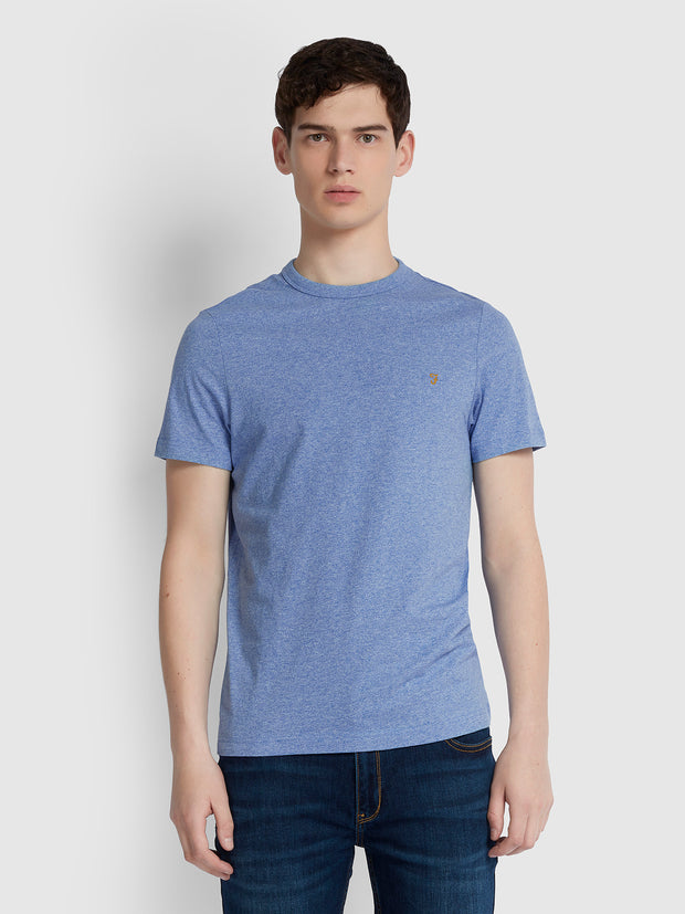 Dennis Slim Fit T-Shirt In Boy Blue Marl