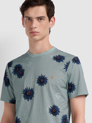 Yandell Floral Print T-Shirt In Green Mist