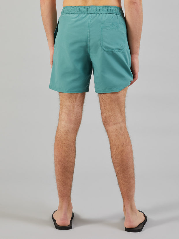 Colbert Swim Shorts In Green Biscuit