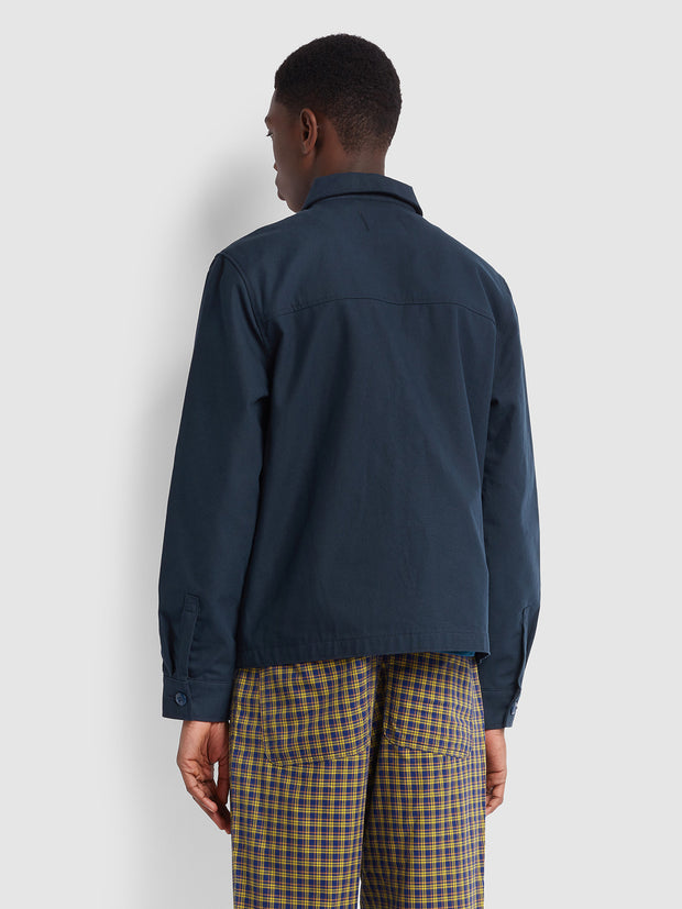 Farah X YMC Hopsack Jacket In True Navy