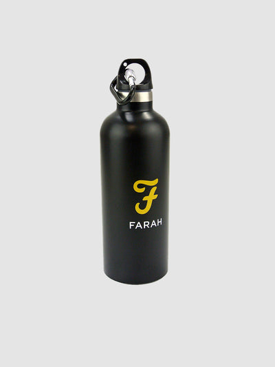Water Bottle With Carabina Clip In Deep Black