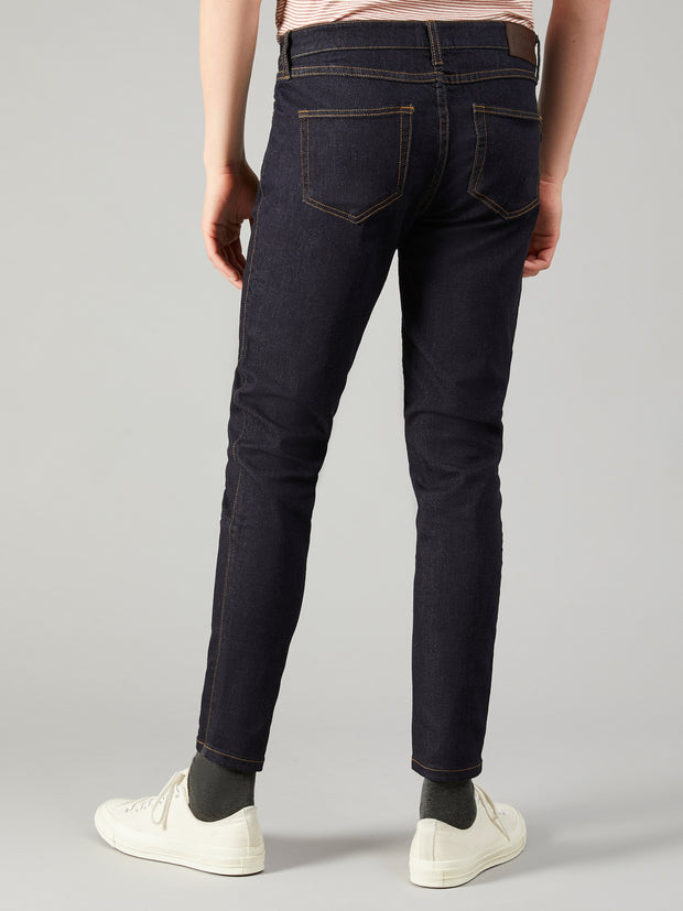 HOWELLS SUPER SLIM FIT STRETCH JEANS IN RINSE DENIM