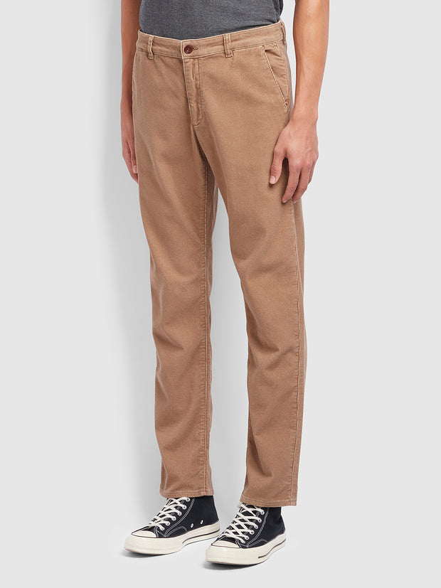 Elm Regular Fit Cord Trousers In Beige