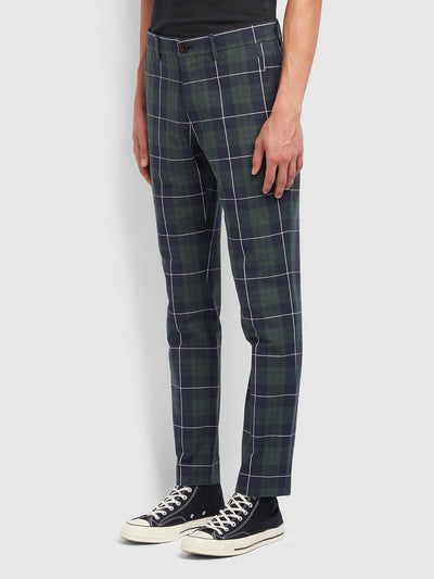 Elm Regular Fit Check Trousers In Yale