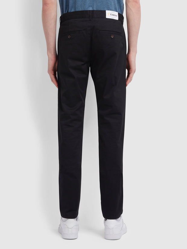 Drake Slim Fit Twill Chinos In Black