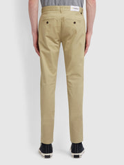 Drake Slim Fit Twill Chinos In Light Sand