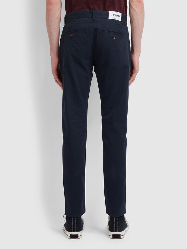 Drake Slim Fit Twill Chinos In True Navy