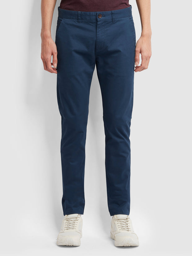 Drake Slim Fit Twill Chinos In Farah Teal