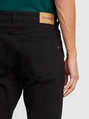 Elm Regular Fit Black Stretch Jeans In Black