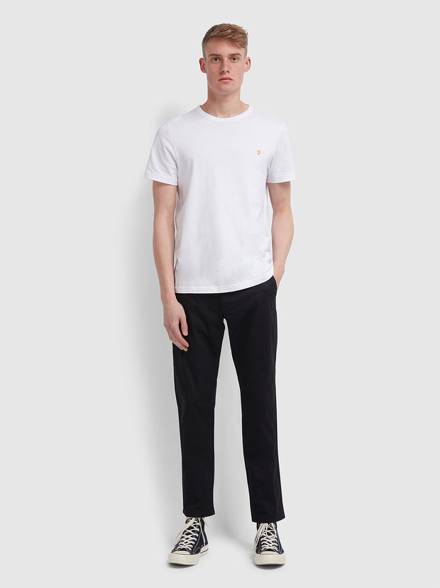 Elm Regular Fit Twill Chinos In Black