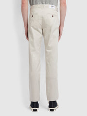 Elm Regular Fit Twill Chinos In White Smoke