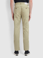 Elm Regular Fit Twill Chinos In Light Sand