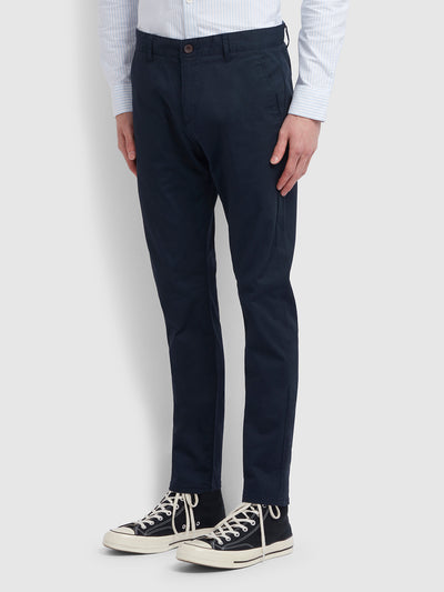 Elm Regular Fit Twill Chinos In True Navy