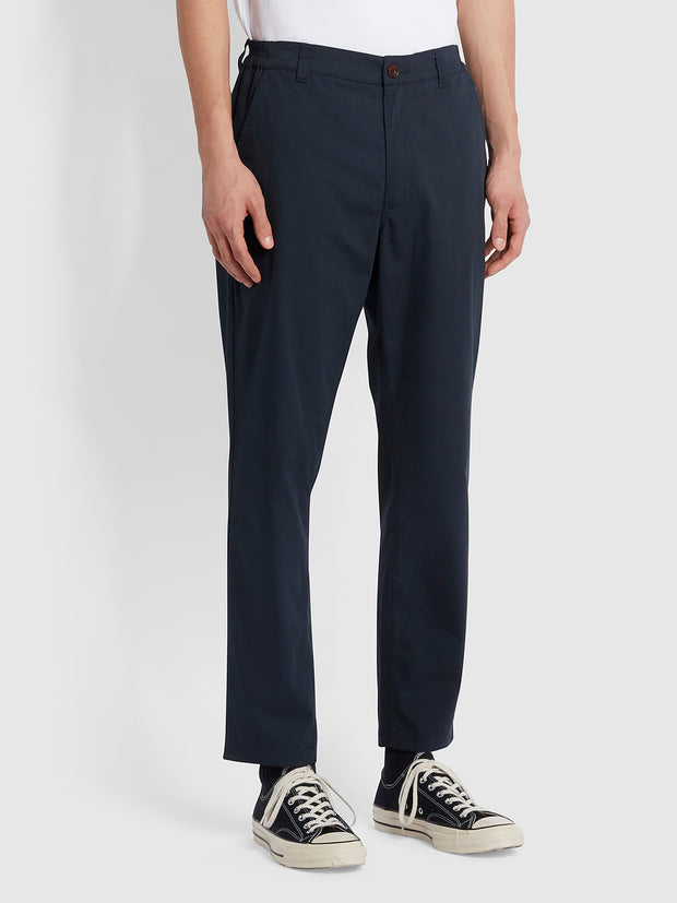 Rushmore Tapered Fit Trousers In True Navy