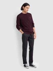 Mullen Cotton Crew Neck Jumper In Farah Red