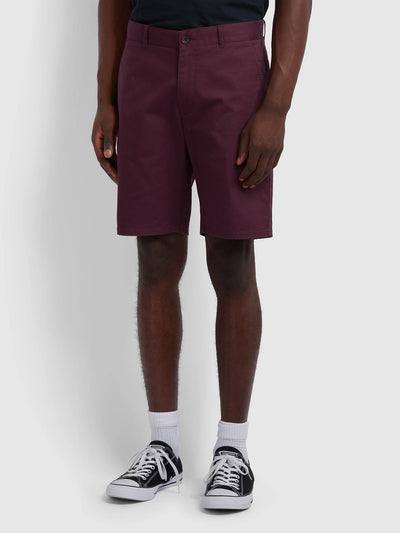 Hawk Twill Chino Shorts In Farah Raspberry