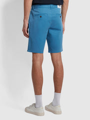 Hawk Dyed Twill Chino Shorts In Maritime Blue