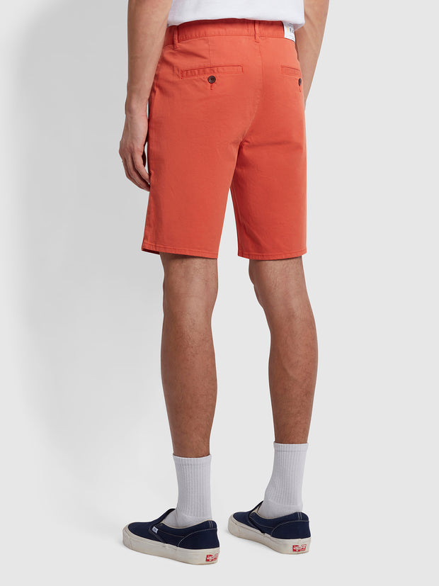 Hawk Dyed Twill Chino Shorts In Topanga Orange
