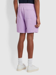 Durrington Organic Cotton Jersey Shorts In Pink Lavender