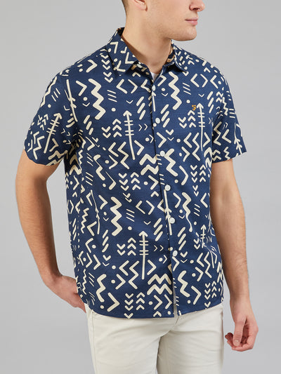 Jurado Casual Fit Short Sleeve Printed Shirt In Yale