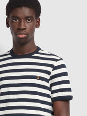 Belgrove Slim Fit Striped T-Shirt In Ecru