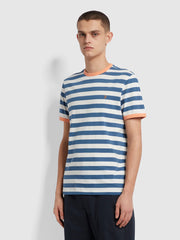 Belgrove Slim Fit Striped T-Shirt In Cold Metal