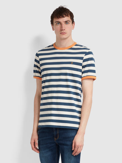 Belgrove Slim Fit Striped T-Shirt In Farah Teal