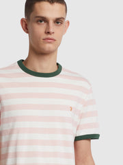 Belgrove Slim Fit Striped T-Shirt In Clyde Pink
