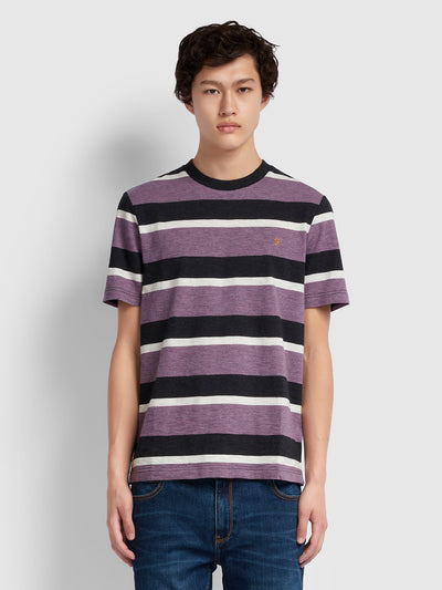 Celtic Striped T-Shirt In Rose Taupe Marl
