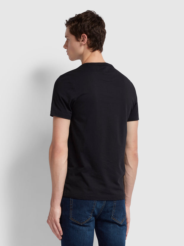 Dennis Slim Fit T-Shirt In Deep Black