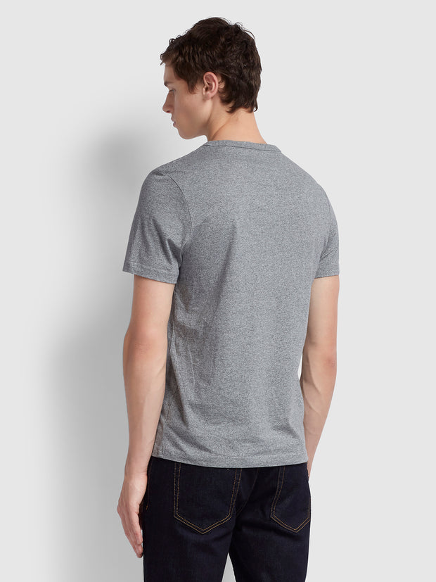Dennis Slim Fit T-Shirt In Gravel Marl