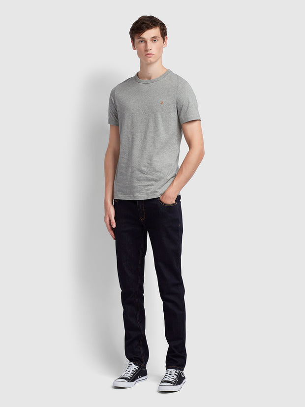 Dennis Slim Fit T-Shirt In Rain Heather