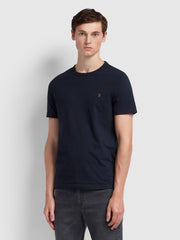 Dennis Slim Fit T-Shirt In True Navy