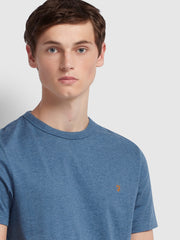 Dennis Slim Fit T-Shirt In Dark Denim Marl