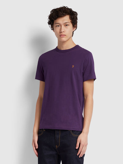 DENNIS SLIM FIT T-SHIRT IN BRIGHT PURPLE