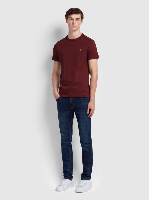 Dennis Slim Fit T-Shirt In Farah Red Marl