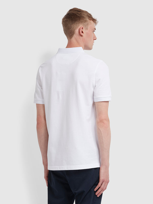 Blanes Slim Fit Polo Shirt In White
