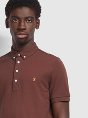 Ricky Slim Fit Polo Shirt In Farah Burgundy