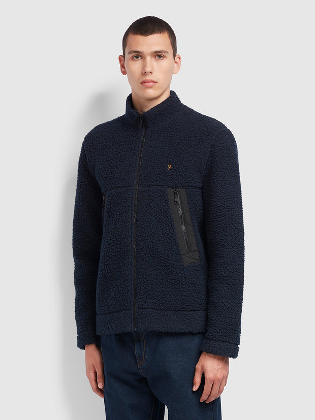 Mayfield Full Zip Sweatshirt In True Navy