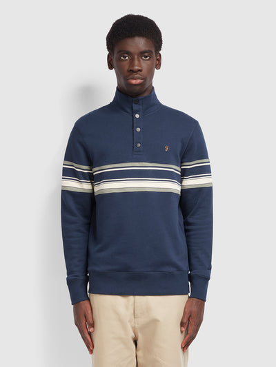 Hales Cotton Funnel Neck Sweatshirt In Yale