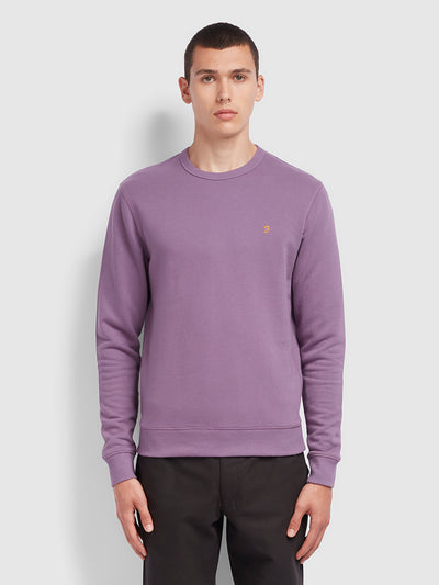 Tim 100 Cotton Crew Neck Sweatshirt In Rich Lilac