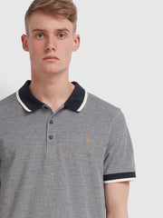 Basel Slim Fit Tipped Polo Shirt In True Navy