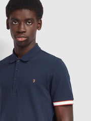 Wade Slim Fit Contrast Polo Shirt In Farah Russet