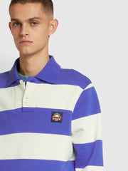 Wickford Cotton Striped Sweatshirt In Farah Purple Blue