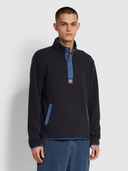 Woods Funnel Neck Sweatshirt In True Navy