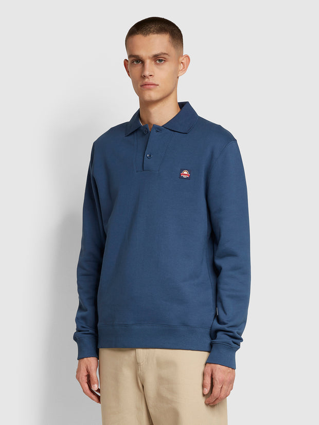 Wickford Cotton Sweatshirt In Deep Blue