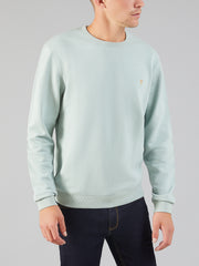 PICKWELL GARMENT WASHED SWEAT IN CREATION GREEN